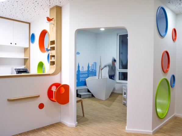 Innenarchitektur für kinderarztpraxis in berlin neumann
